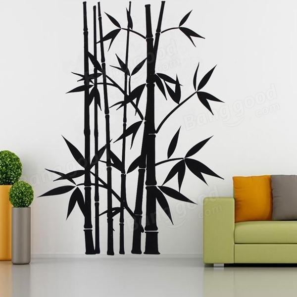 Etiquetas adhesivas de la pared del bamb separables for Color bambu pintura