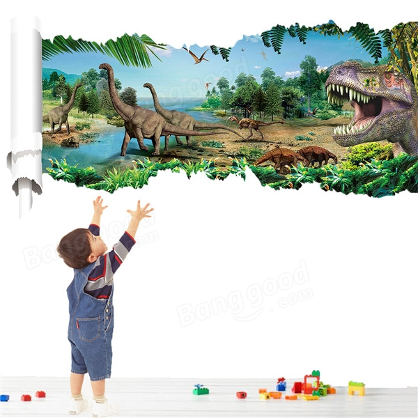 3D dinosaur park wall sticker