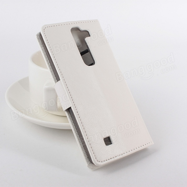 Magnetic Flip Stand PU Leather Case Cover For LG Magna C90 H520N
