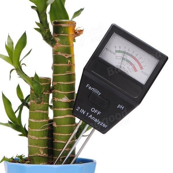 2 in 1 soil pH fertility tester
