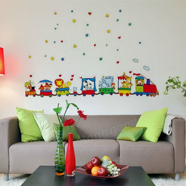 Animals Cars Wall Sticker