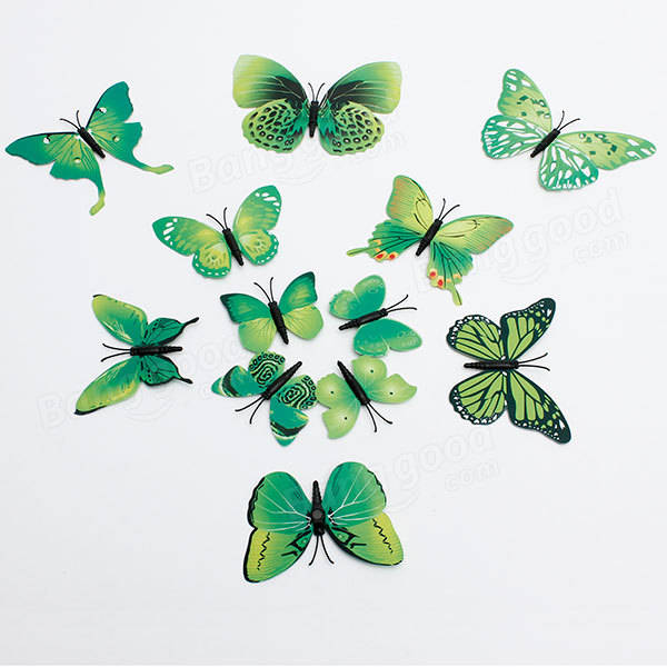 12pcs 3d butterfly wall stickers fridge magnet for home for 3d wall butterfly decoration
