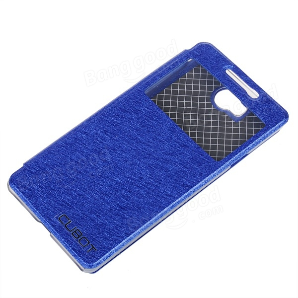 Flip PU Stand View Window Protective Leather Case For CUBOT S208