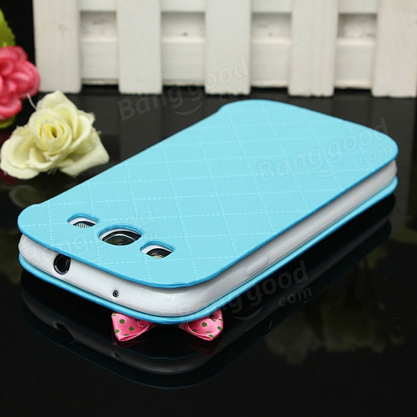 Bowknot Pearl Leather Card Wallet Case For Samsung Galaxy S3 i9300