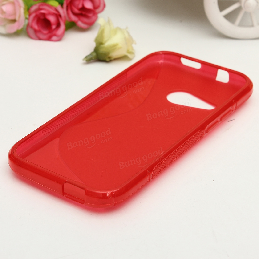 S Line Soft TPU Transparent Silicone Back Case For HTC One M8 Mini