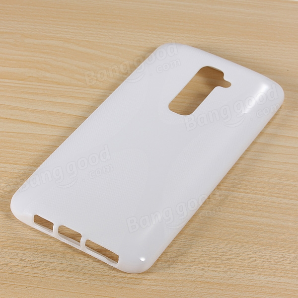 X Line Wave Soft TPU Gel Silicone Matte Case For LG G2