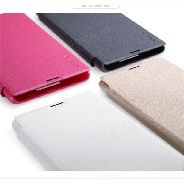 NILLKIN Sparkle Leather Case For Sony Xperia E3