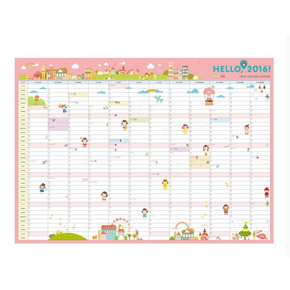 Calendar Home Planner : New calendar wall monthly planner paper