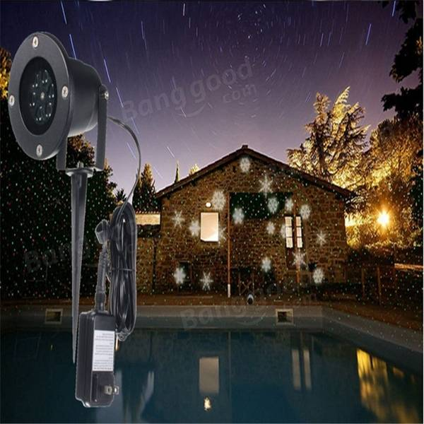Led flocon lumi re paysage projecteur jardin ext rieur for Projecteur laser exterieur noel gifi