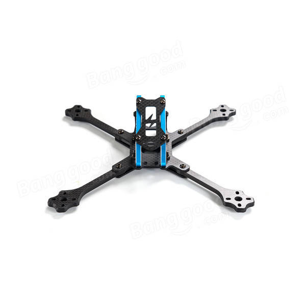 TransTEC Lightning Race 215mm 4mm 3K Full Carbon Fiber Frame Kit Blue/Sliver for RC FPV Racing Drone