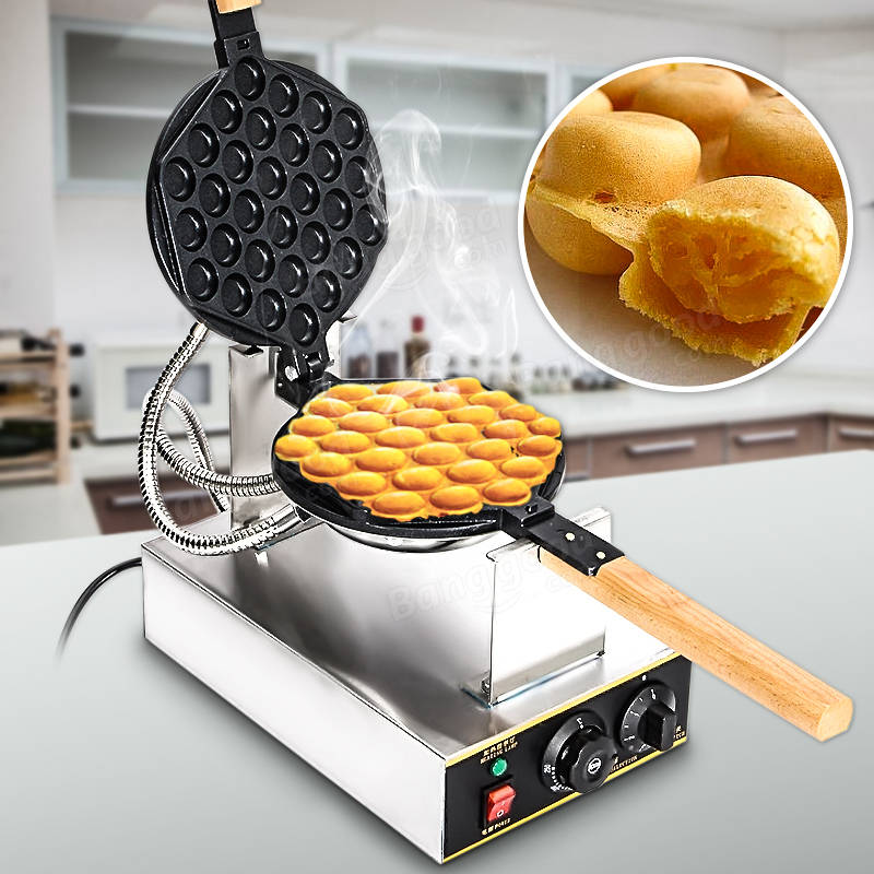 1.1 KW 110V Electric Egg Waffle Maker Egg QQ Egg Waffle Maker Egg Bubble Waffler Machine Power Tools