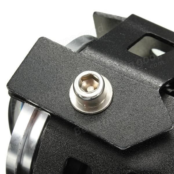 2PCS U7オートバイ防水LED 霧光スポットヘッドライト エンジェルアイズランプ ブラックボディブルーライト