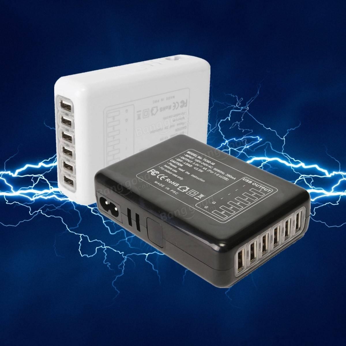 Mini Multi Port Adapter 6 Travel Usb Ac Power Charger With Uk Eu Us Au Plug Sale Banggood Com