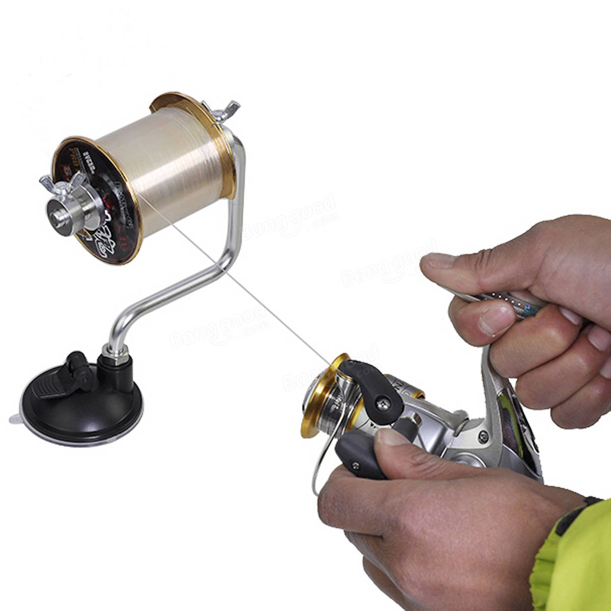 12cm x 15cm portable aluminum fishing line winder reel for Fishing line on reel