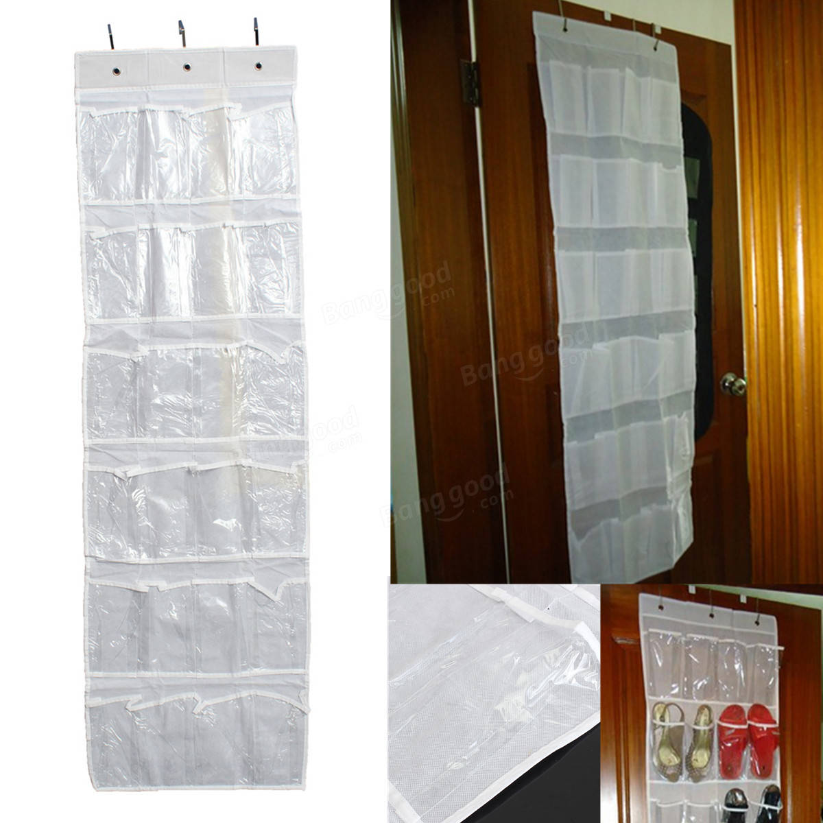 24pocket Hanging Over Door Stainless Steel Holder Shoes