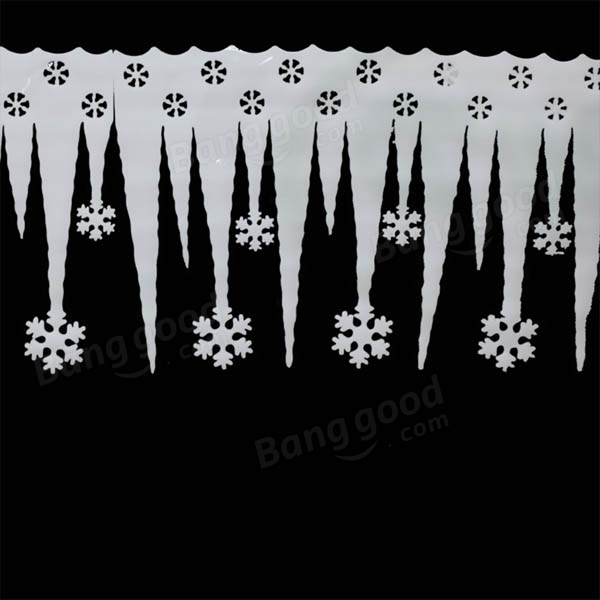 2pcs Christmas Ornaments White  Foam Snowflake Ice Strips Garden Holiday Decoration