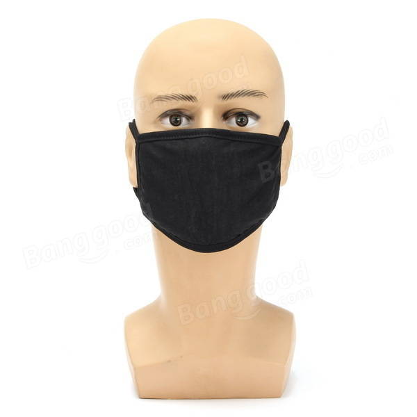 Motorcycle Winter Thick Cotton Dustproof Face Mask Male Solid Color Model Masks