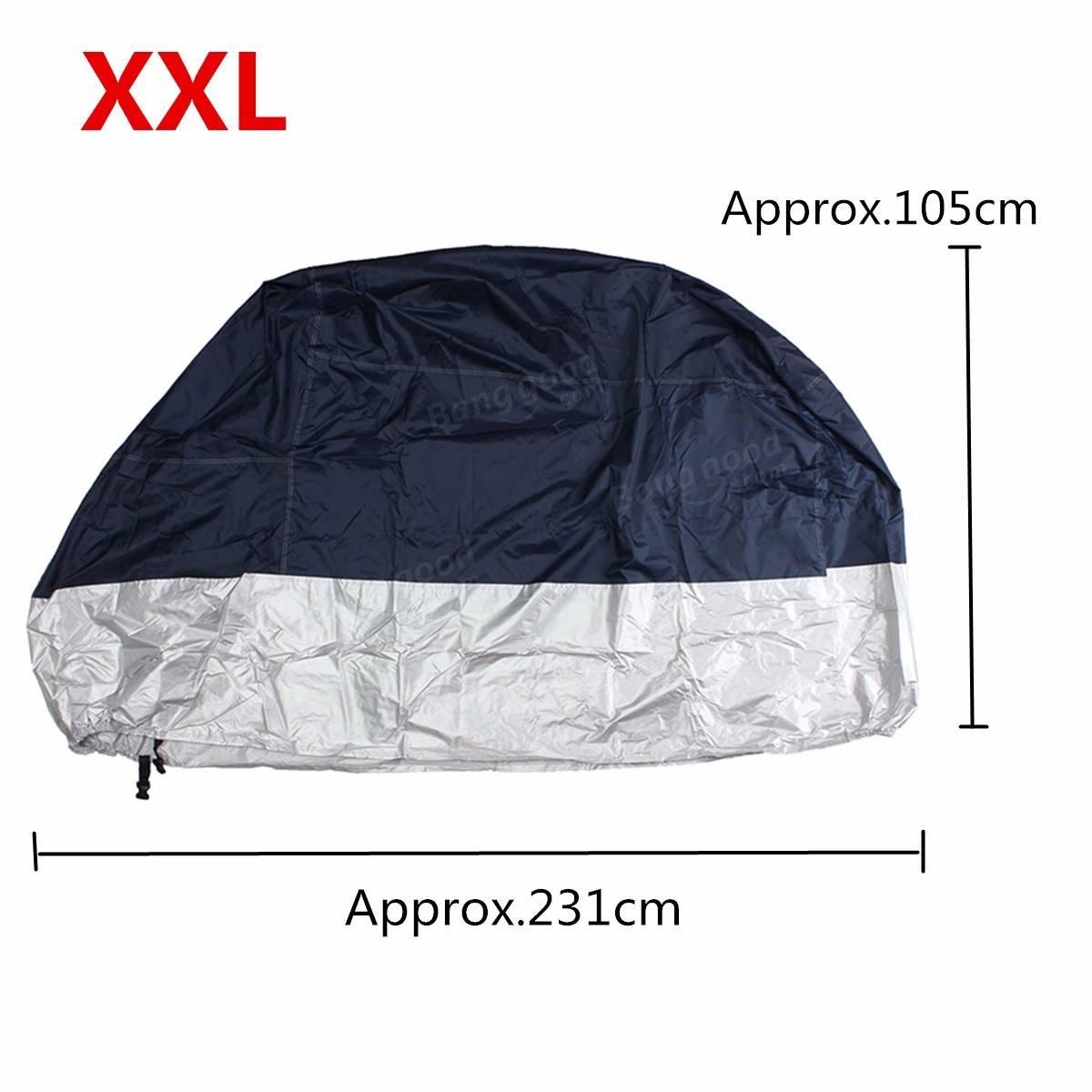 M / L / XL / XXLオートバイ防水アウトドアレインバイクカバー