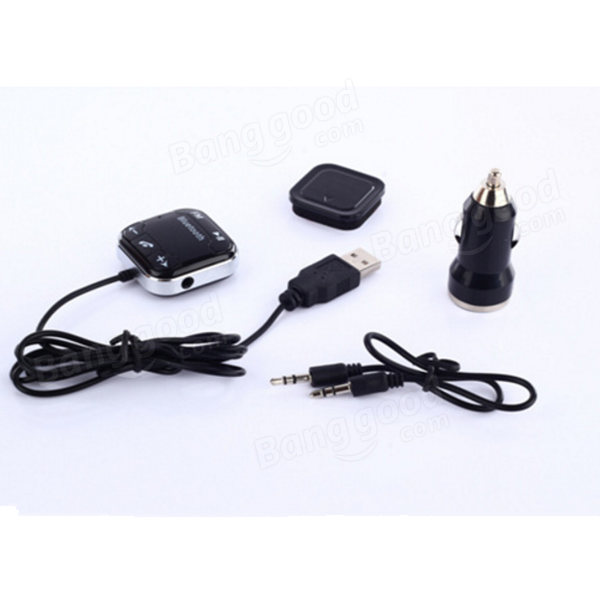 Handsfree Car Audio Receiver with Bluetooth Function FM Transmitter TF Card AUX Audio MP3 Player