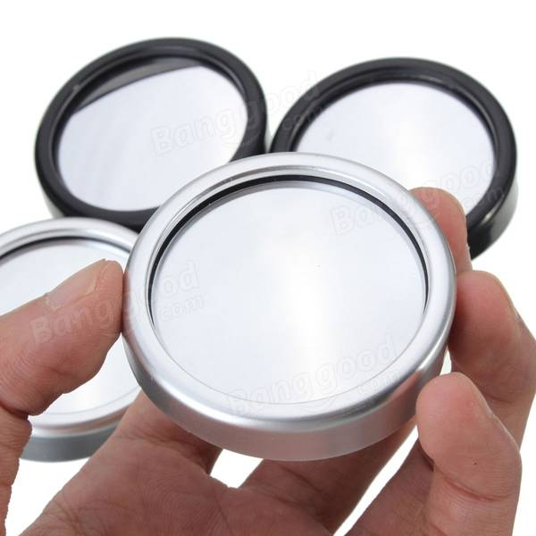 2pcs Round Auto Car Truck Blind Spot Rear View Mirror Convex Wide Angle Glasses