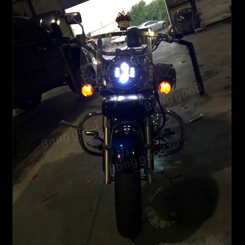 7 ラウンド40W LEDハイ/ローホワイトヘッドライトオートバイジープラングラーJK / TJ / LJ / CJ