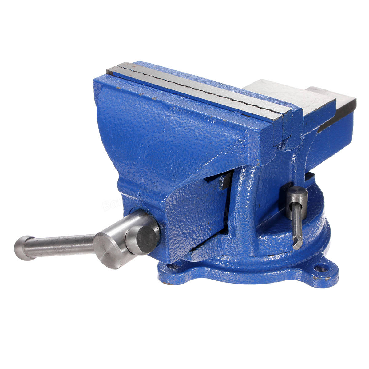 5 Inch Bench Vise With Anvil Swivel Locking Base Table Top Clamp Heavy Duty Steel Sale