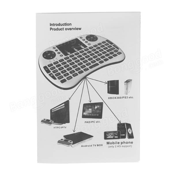 I8 Three Color Backlit Spainish Version 2.4G Wireless Mini Keyboard Touchpad Airmouse