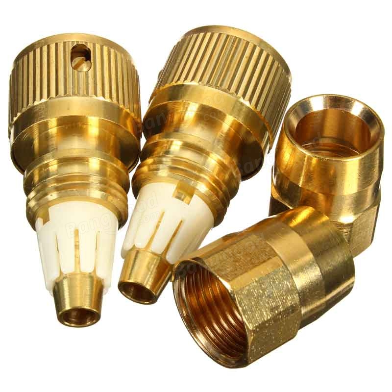 Pcs inch brass garden expandable water hose connector