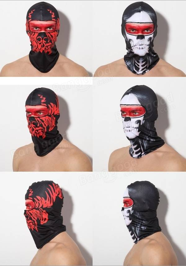 Lycra Balaclava Face Mask Motorcycle Bike Ski Outdoor Airsoft Cosplay Party