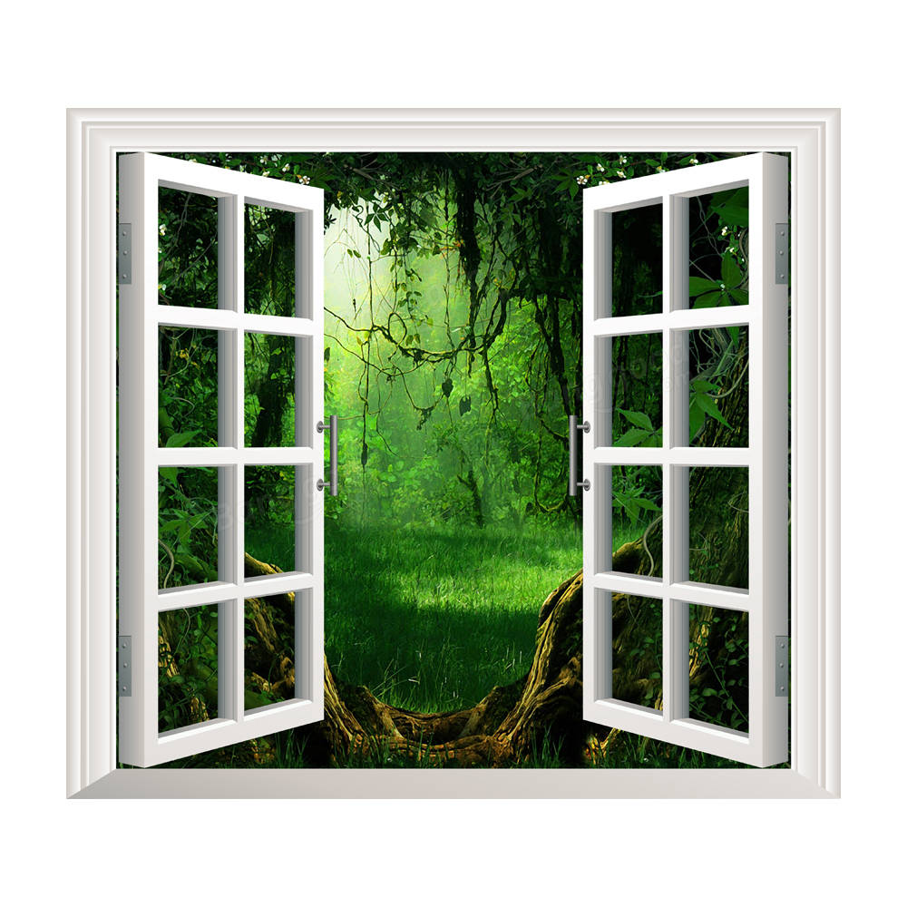 Deep Forest Pag 3d Artificial Window View 3d Wall Decals