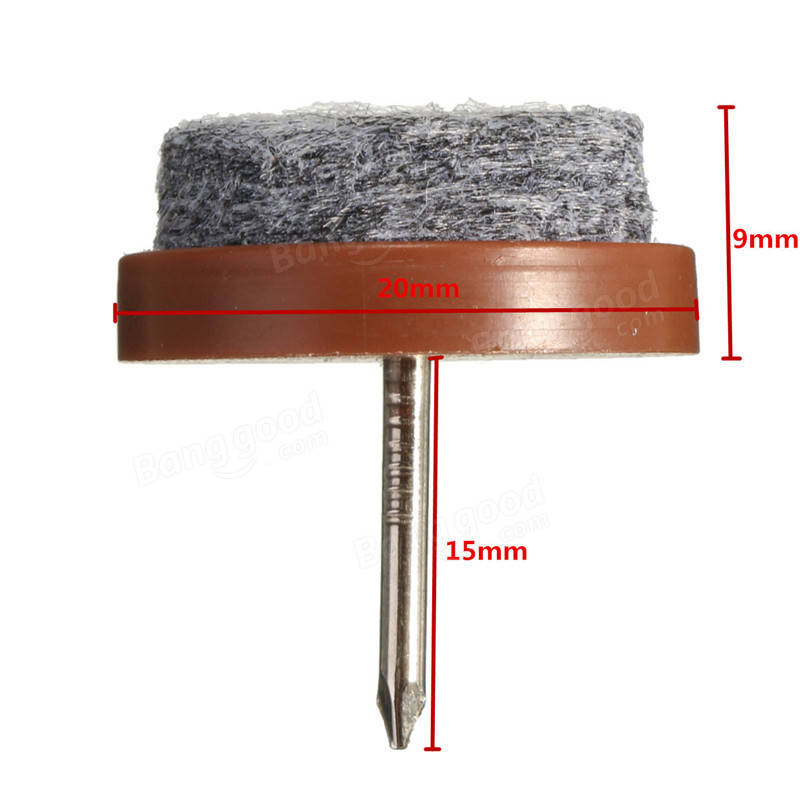 24Pcs 20mm Round Nail Anti-Sliding Felt Pad Skid Glide for Wooden Furniture Tables Chair Leg Feet