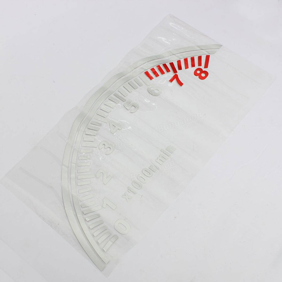Car Decoration Reflective Speedometer Style Rear Window PVC Sticker Decal