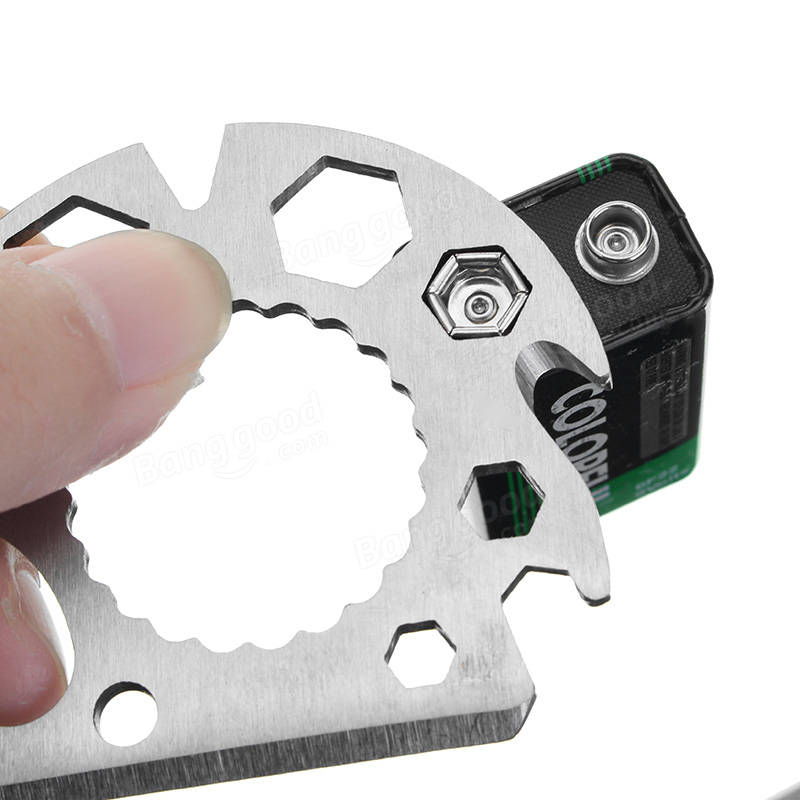 Multifunctional EDC Tool Card Key Ring Rope Cutter Bottle Opener Hex Wrench Rope Cutting Tool