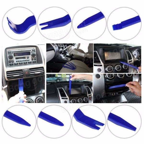 10pcs Car Radio Door Clip Panel Removal Tools Trim Dash Audio Installer Pry Kits