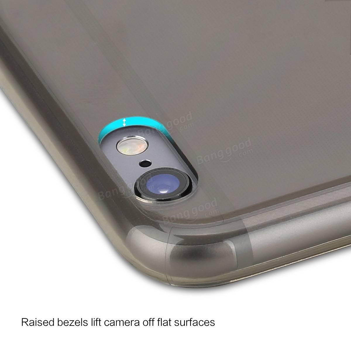Original ROCK Soft TPU Slim Kickstand Case Transparent Holder Case Cover For iPhone 6Plus /6sPlus