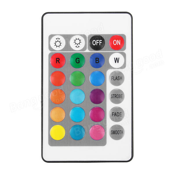 3.5W 50CM Submersible Remote Control/Button 24 LED RGB Night Lamp for Aquarium Fish Tank Pond