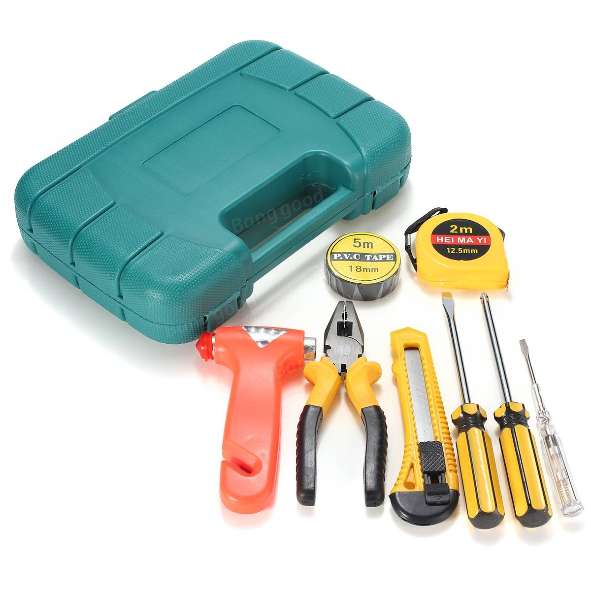 9pcs Auto Car Household Repair Tool Set Combination Hand Emergency Tool Common Kit