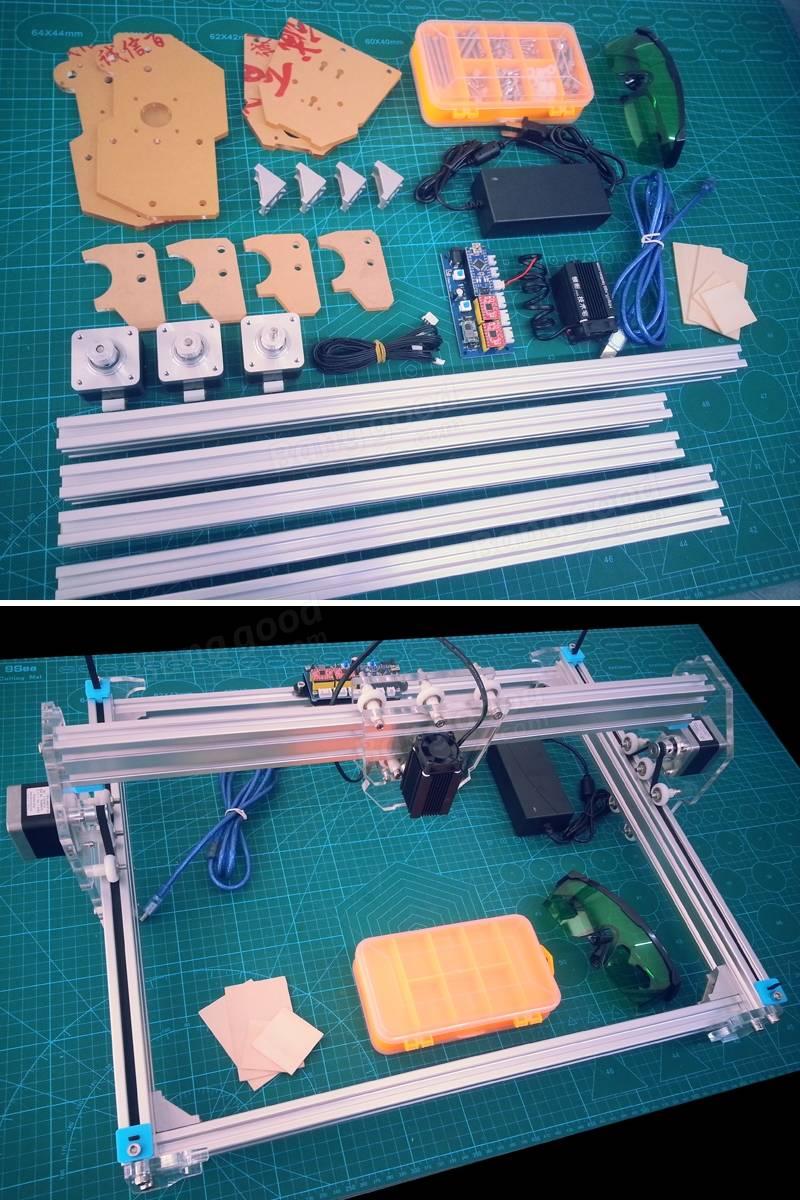 5500mw A3 30x40cm Desktop Diy Violet Laser Engraver