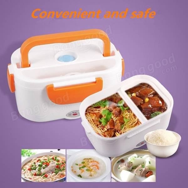 1.05L 12V carro portátil de aquecimento elétrico isolamento almoço caixas de alimentos recipientes mais quentes