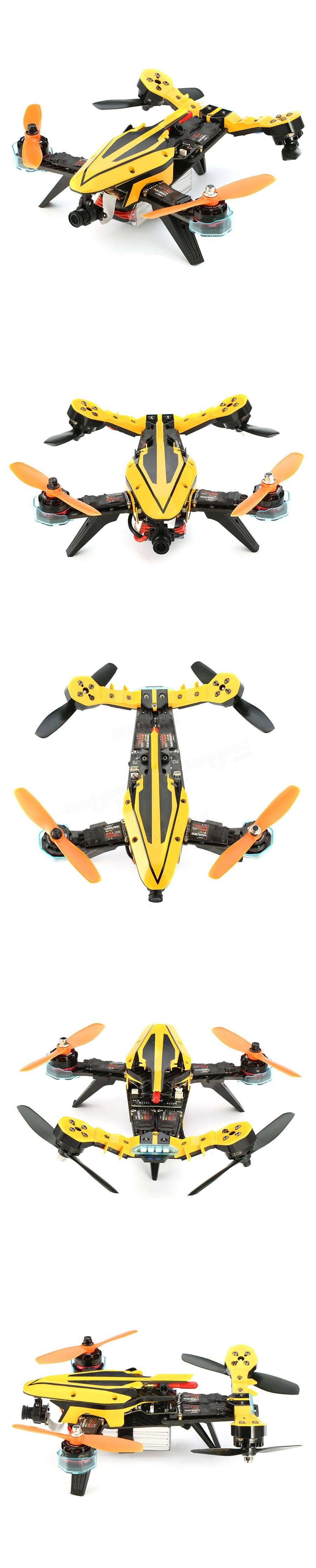 Resultado de imagen de Eachine V-tail 210 FPV Drone 1080P HD DVR F3 EVO 5.8G 40CH 200mW VTX OSD w/ Eachine I6 RTF