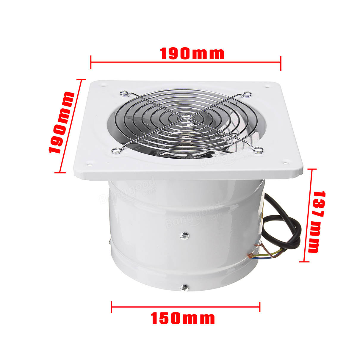6 Duct Fan Extractor : Original inch w inline duct booster fan extractor
