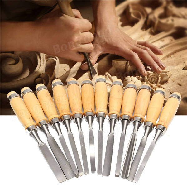 Woodworking Wood Carving Hand Chisel Professional Gouges Tool Set Sale ...