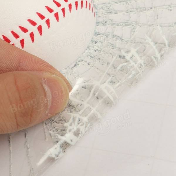 3D Baseball Hit Car Sticker Windshield Window Glass Adhesive Decal