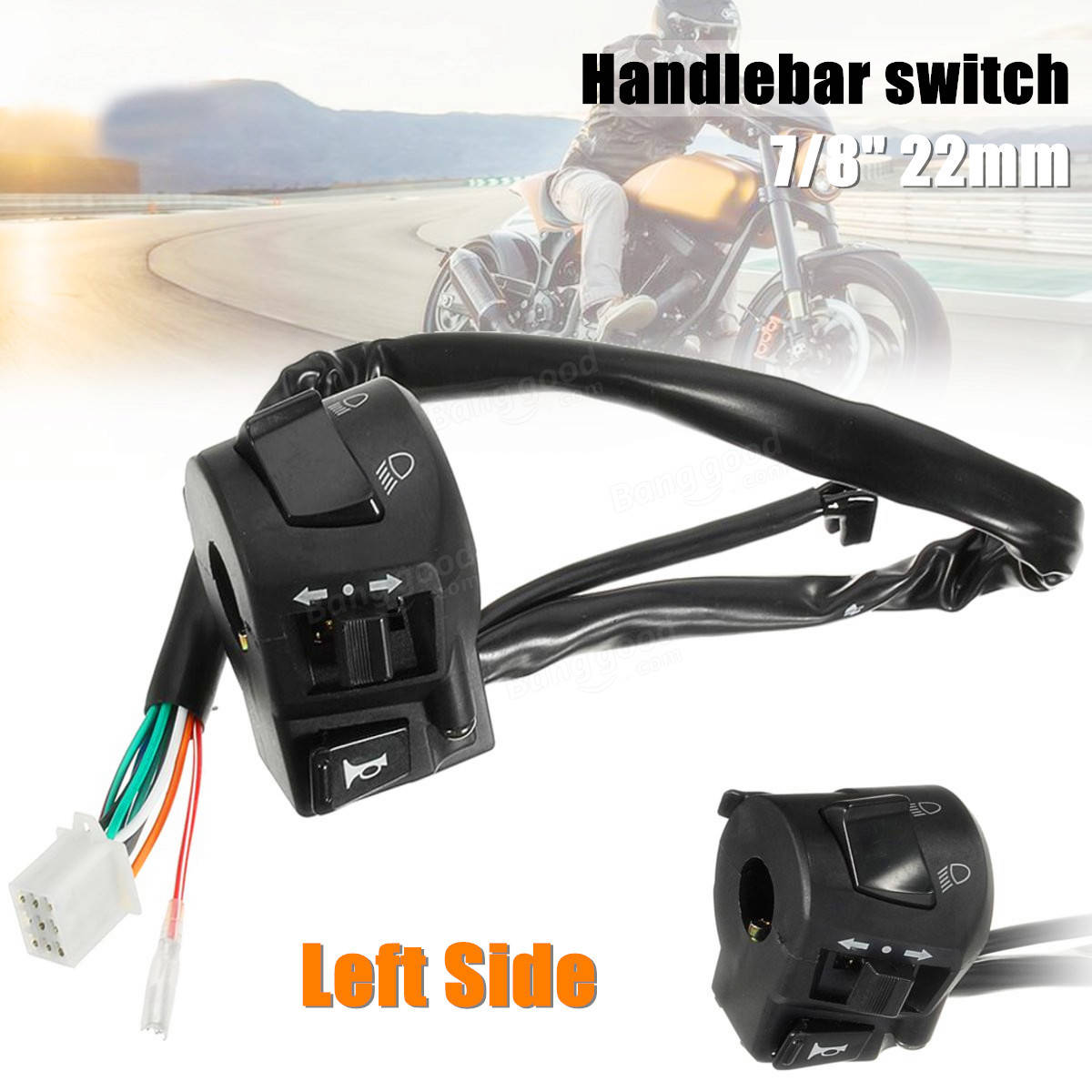 Motorcycle Handlebar Light Switch