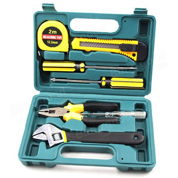 8本の車修理ツールセット鋼合金家庭用ツールセットキット車の緊急キットハードウェアツール