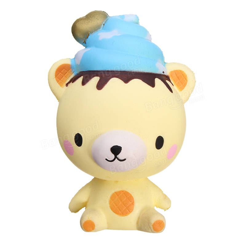 Squishy Cloud Ice Cream Bear Slow Rising With Packaging Collection Gift Decor Soft Squeeze Toy