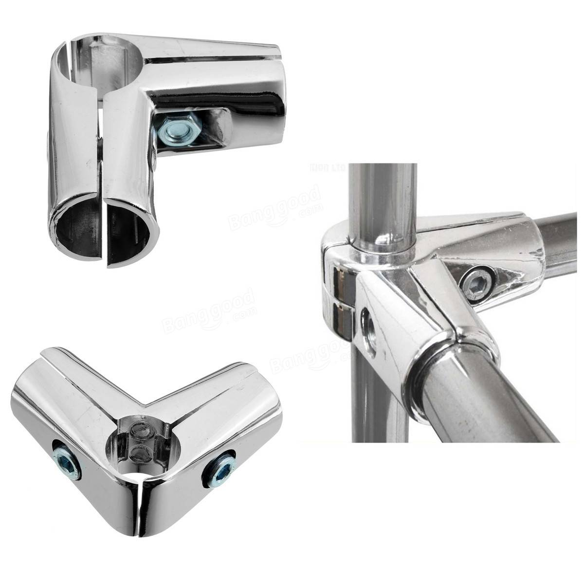 3 Way 25mm Elbow Tube Clamp L Shaped Pipe Fitting ...
