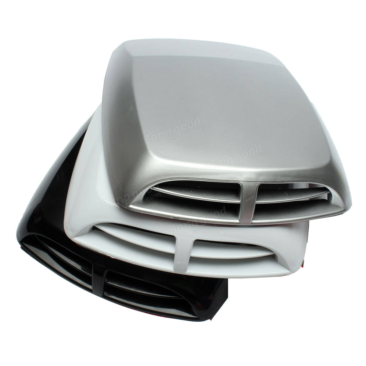 33x24cm Universal Plastic Car Air Flow Intake Engine Hood Bonnet Vent Cover Decoration