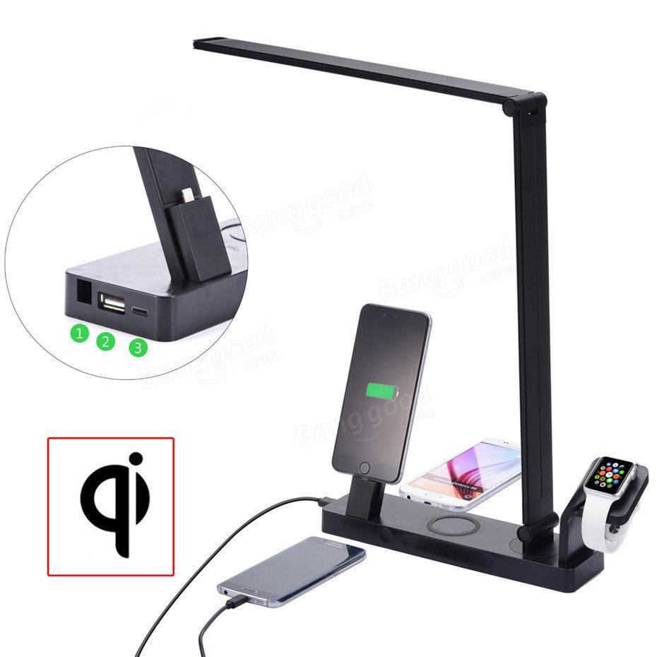 アップルウォッチスタンド付き多機能LEDデスクランプiPhone用タイプCワイヤレス充電パッド