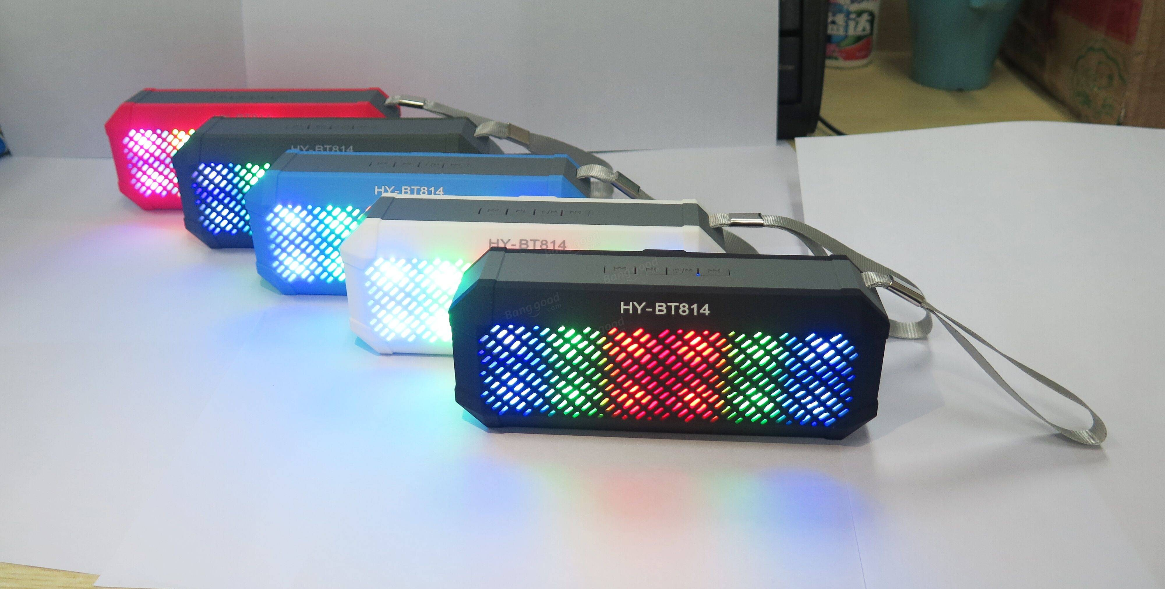 Mini 色ful LED Lights Bass Bluetooth Speaker Portable Wireless Multifunction Subwoofer Sound box